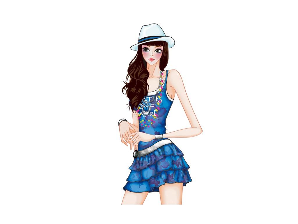 Vector Style Fashion Women Wallpaper 32 1024x768 Wallpaper Download Vector Style Fashion
