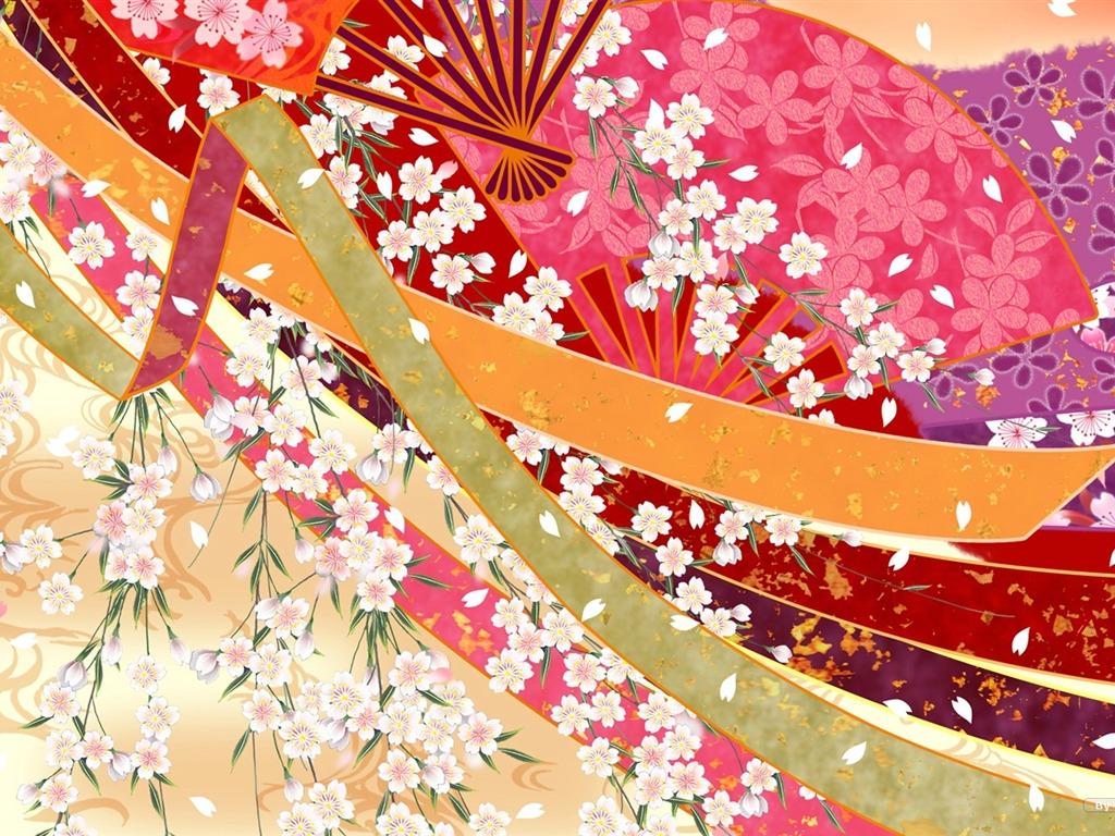 Japan-Stil Tapete Muster und Farbe #12 - 1024x768 ...