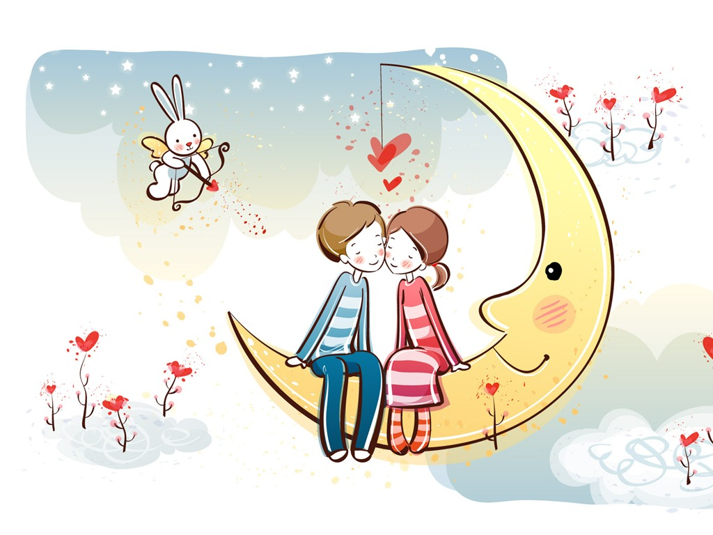 Cartoon Valentine's Day wallpapers (2) #2 - 1024x768 Wallpaper ...