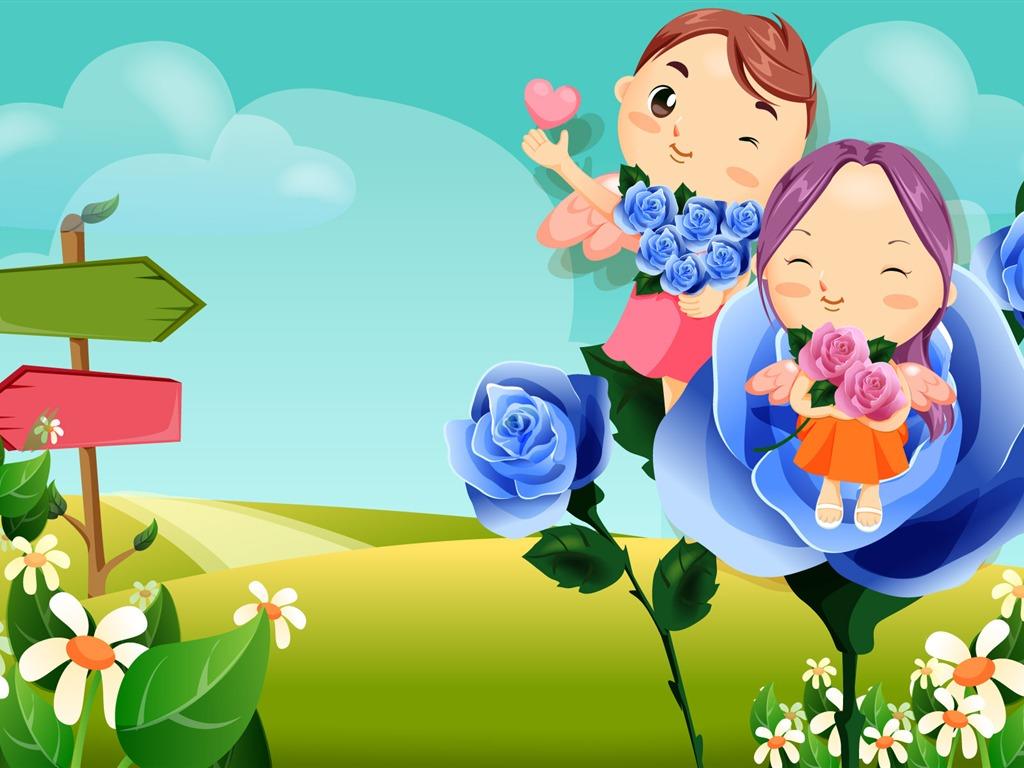 Fondos De Pantalla Gratis San Valentin 16: Día De San Valentín Amor Fondos Vectoriales (2) #16