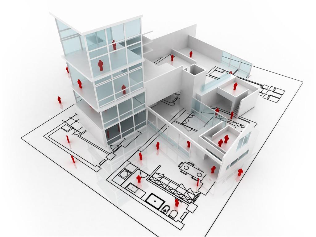 3d Architectural Design Wallpaper 1 17 1024x768