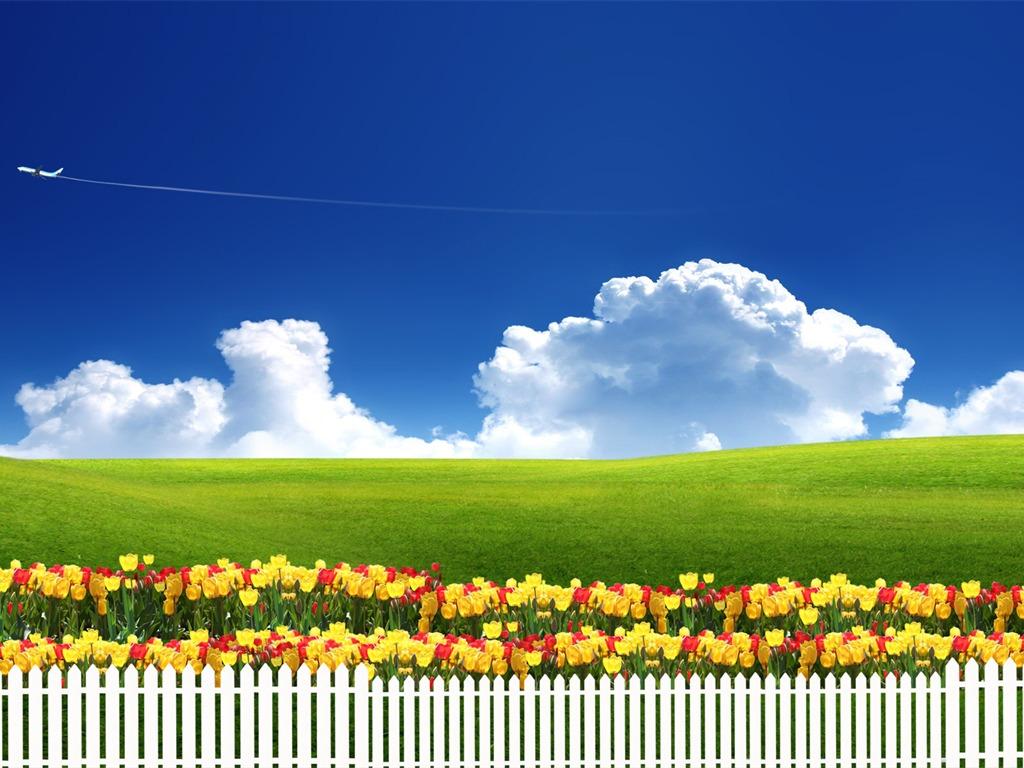Photoshop fondos de escritorio de paisaje soleado de verano 1 18 1024x768 fondos de - Fondos de escritorio verano ...