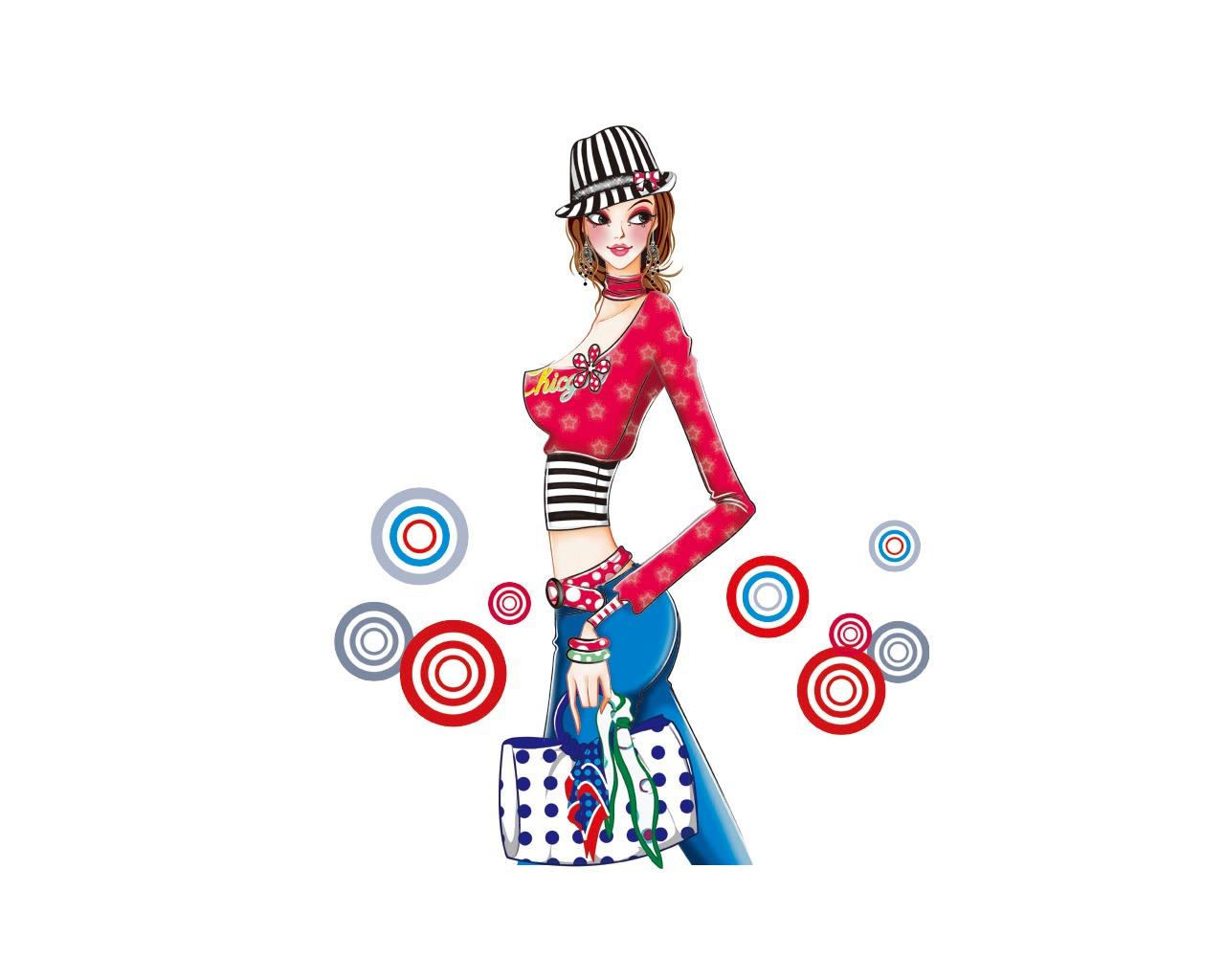 Vector Style Fashion Women Wallpaper 34 1280x1024 Wallpaper Download Vector Style Fashion