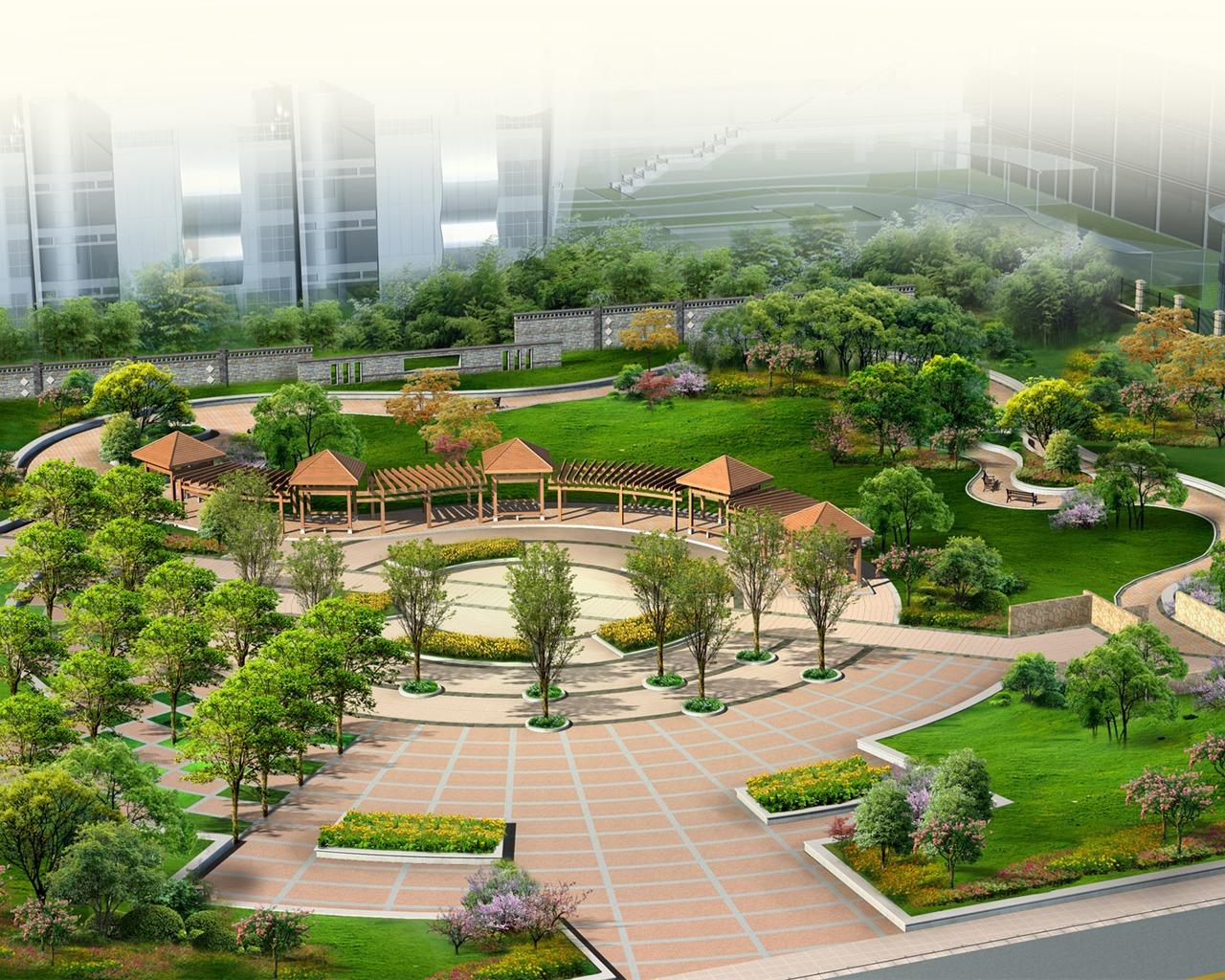 Efectos de la arquitectura y el jard n fondos de for Arquitectura del paisaje