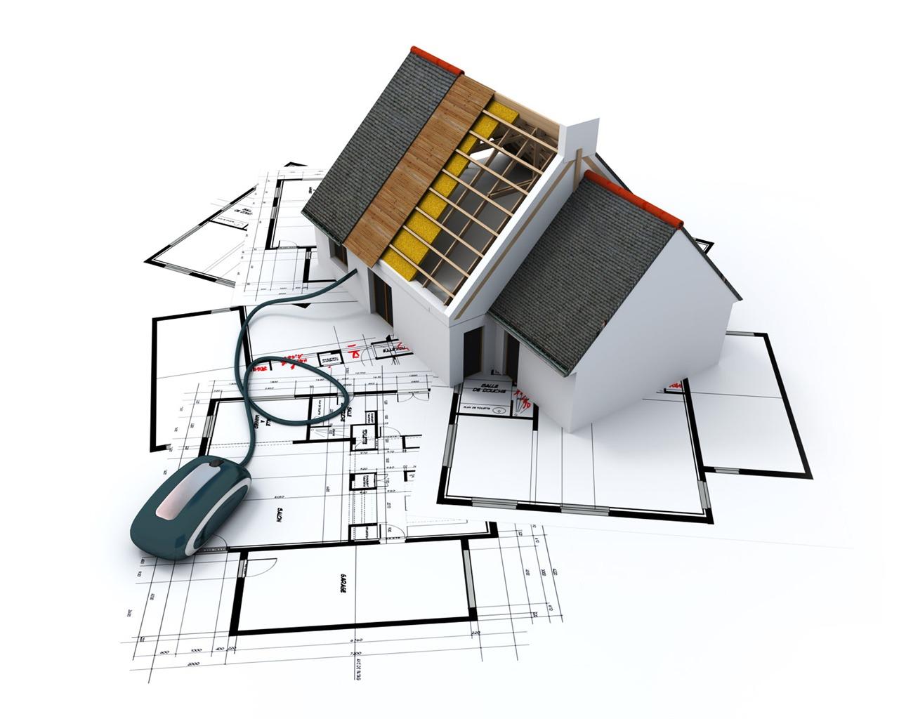 Fond Décran 3d De Conception Architecturale 1 12 1280x1024