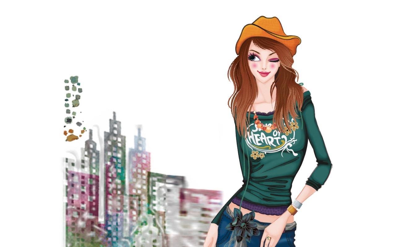 Vector style fashion women wallpaper 25 1280x800 for Fashion style wallpaper