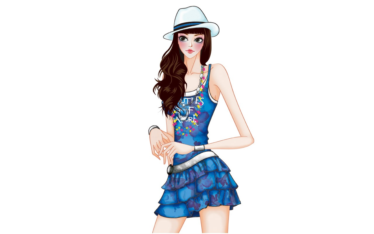 Vector Style Fashion Women Wallpaper 32 1280x800 Wallpaper Download Vector Style Fashion