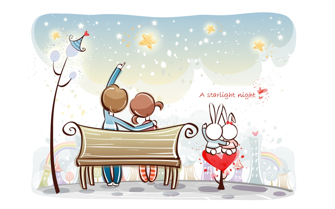 Cartoon valentine 39 s day wallpapers 1 17 1280x800 - Cartoon valentine wallpaper ...