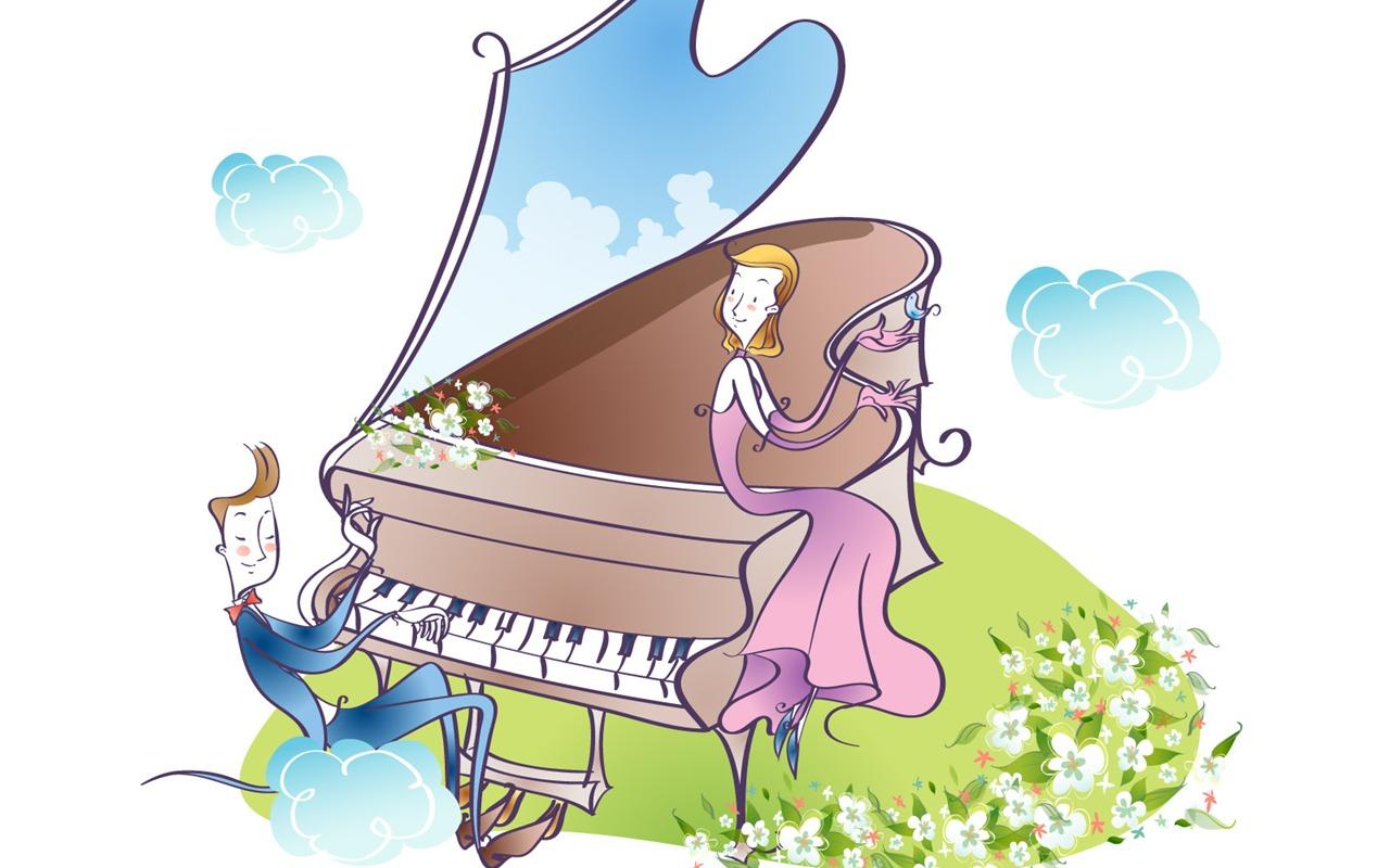 Vector Cartoon Music 8  1280x800 Wallpaper Download