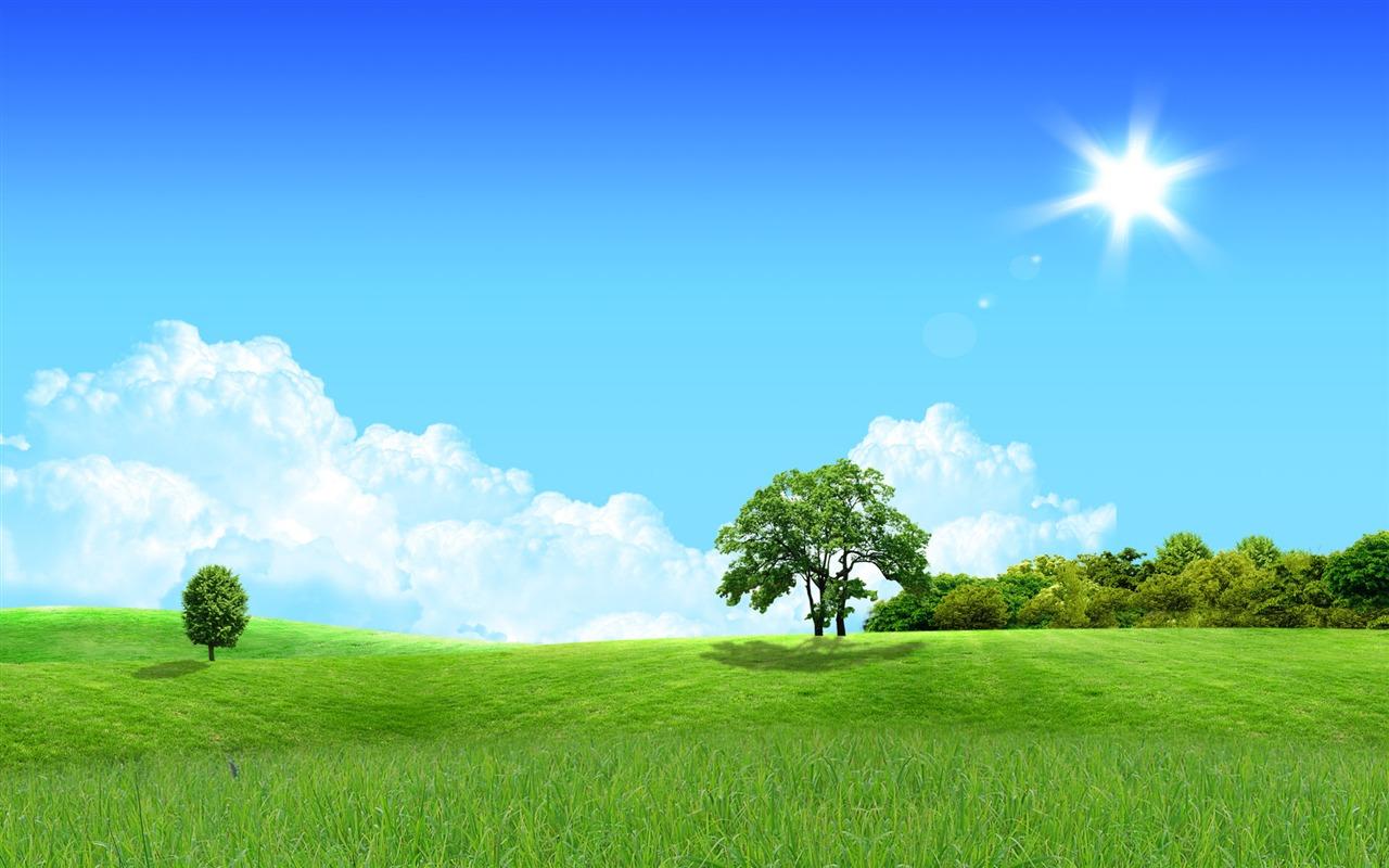Photoshop fondos de escritorio de paisaje soleado de verano 1 17 1280x800 fondos de - Fondos de escritorio verano ...