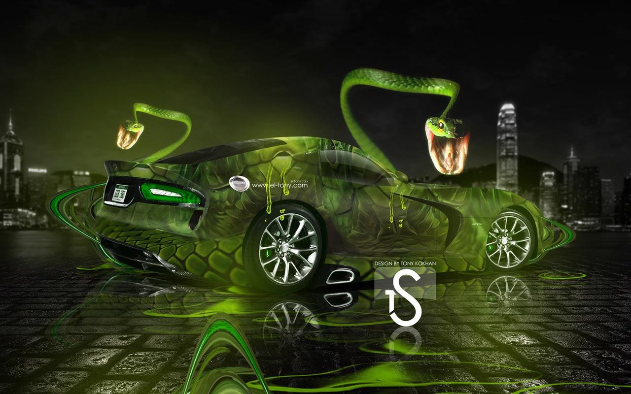 梦幻创意汽车设计壁纸,动物汽车 #15 - 1280x800图片