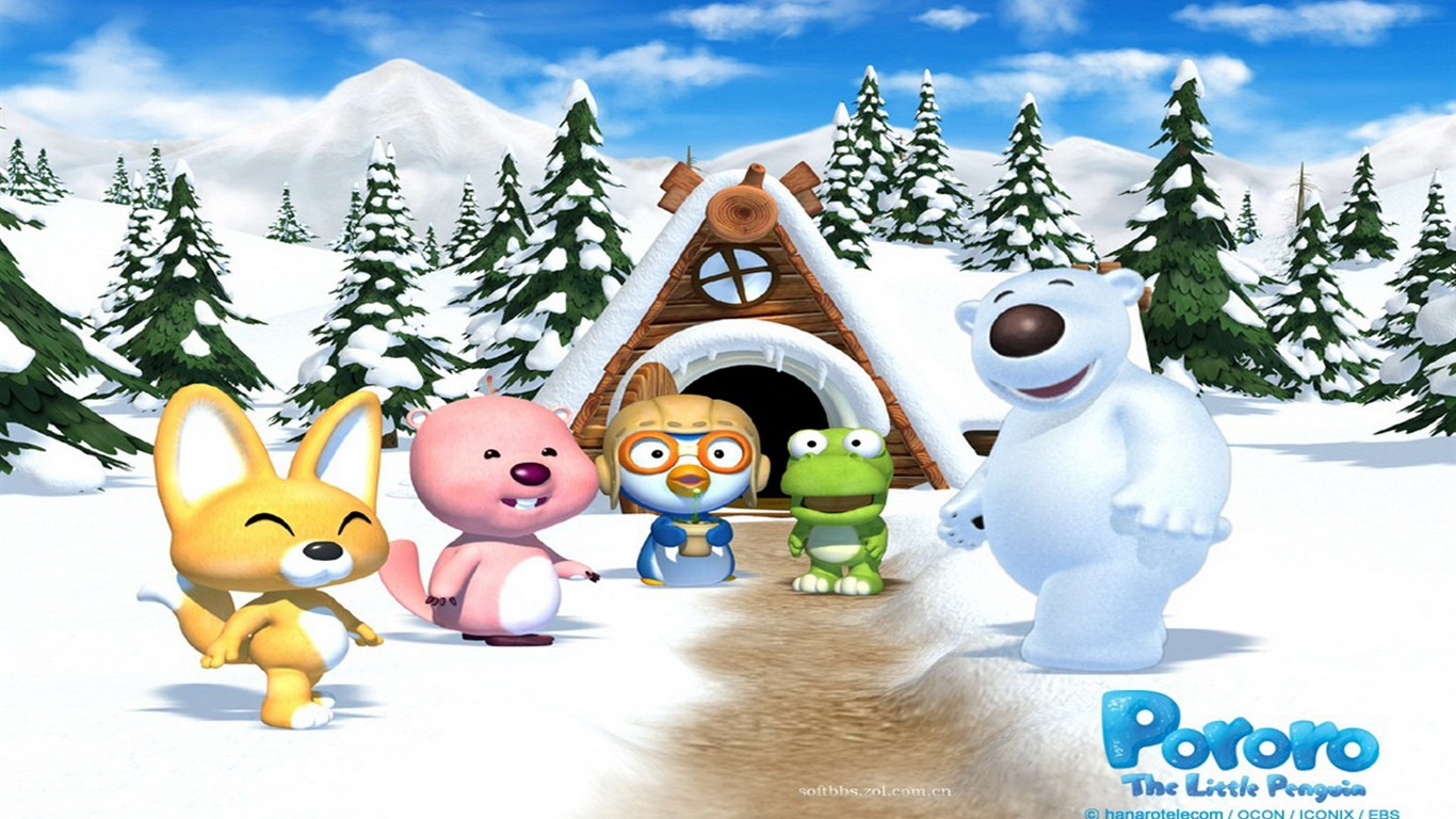 Pororo cartoon wallpapers 11 1366x768 wallpaper download pororo cartoon wallpapers 11 1366x768 thecheapjerseys