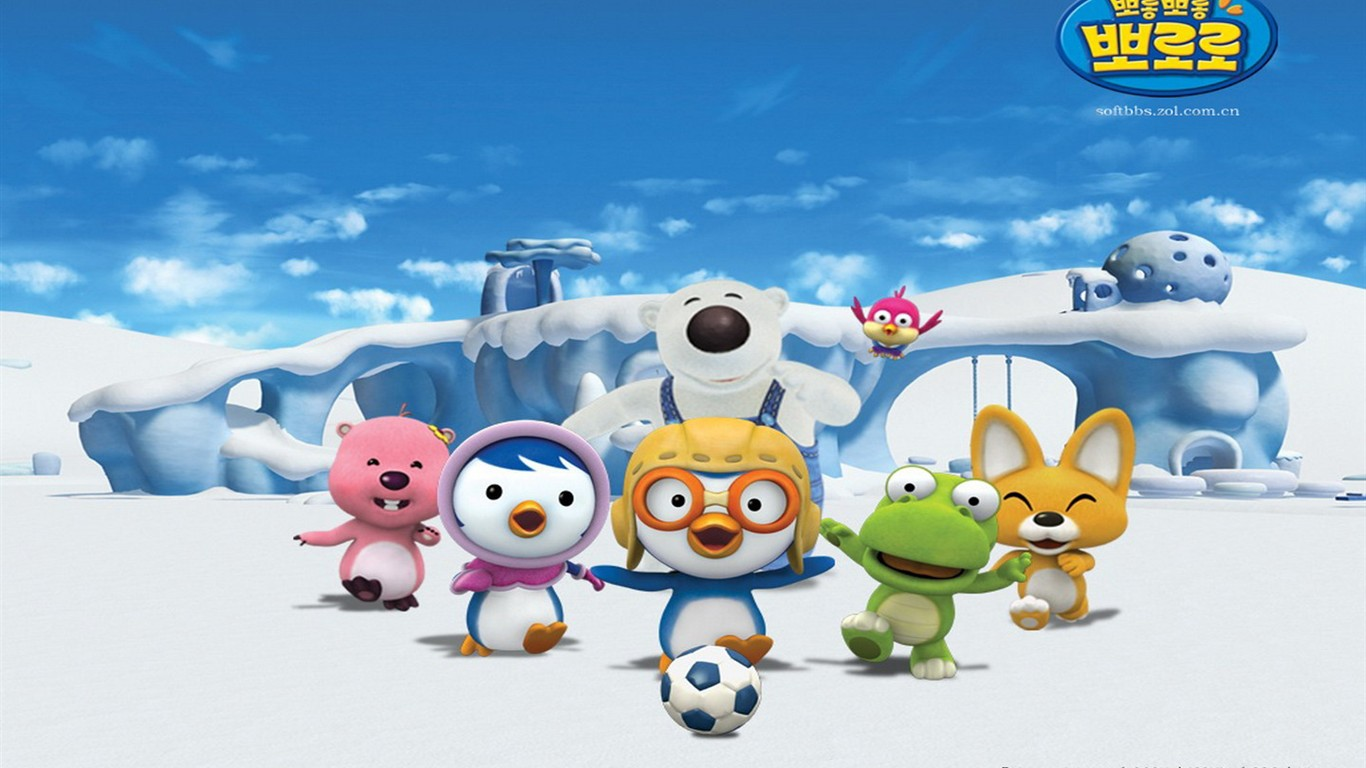 Pororo cartoon wallpapers 12 1366x768 wallpaper download pororo cartoon wallpapers 12 1366x768 thecheapjerseys