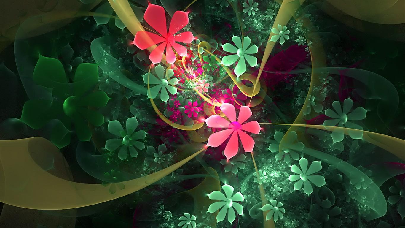 fond d'ecran 3d fleur
