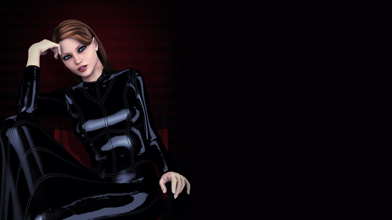 Virtual 3d girls exposed tight doll