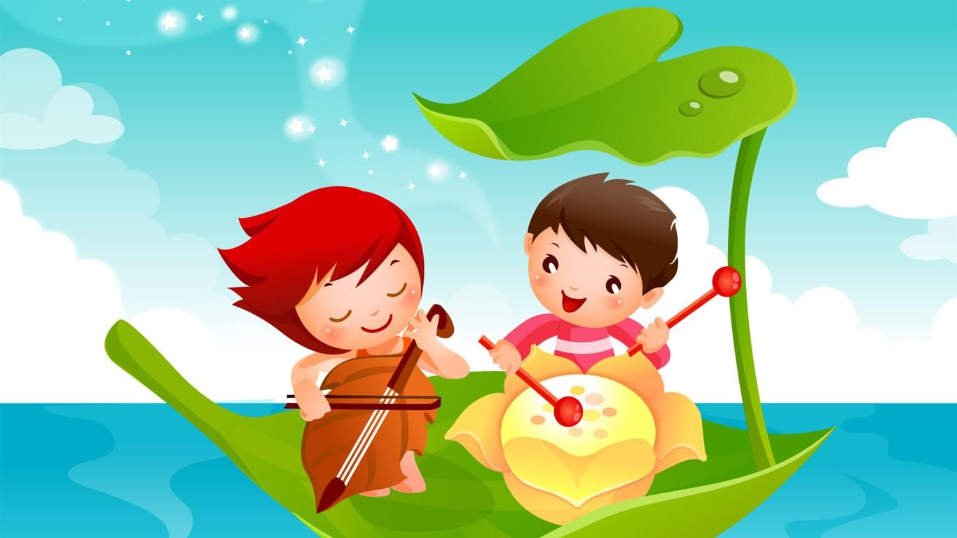 Childhood Dreams Alba Kreslene Tapety 4 1366x768 Wallpaper Ke
