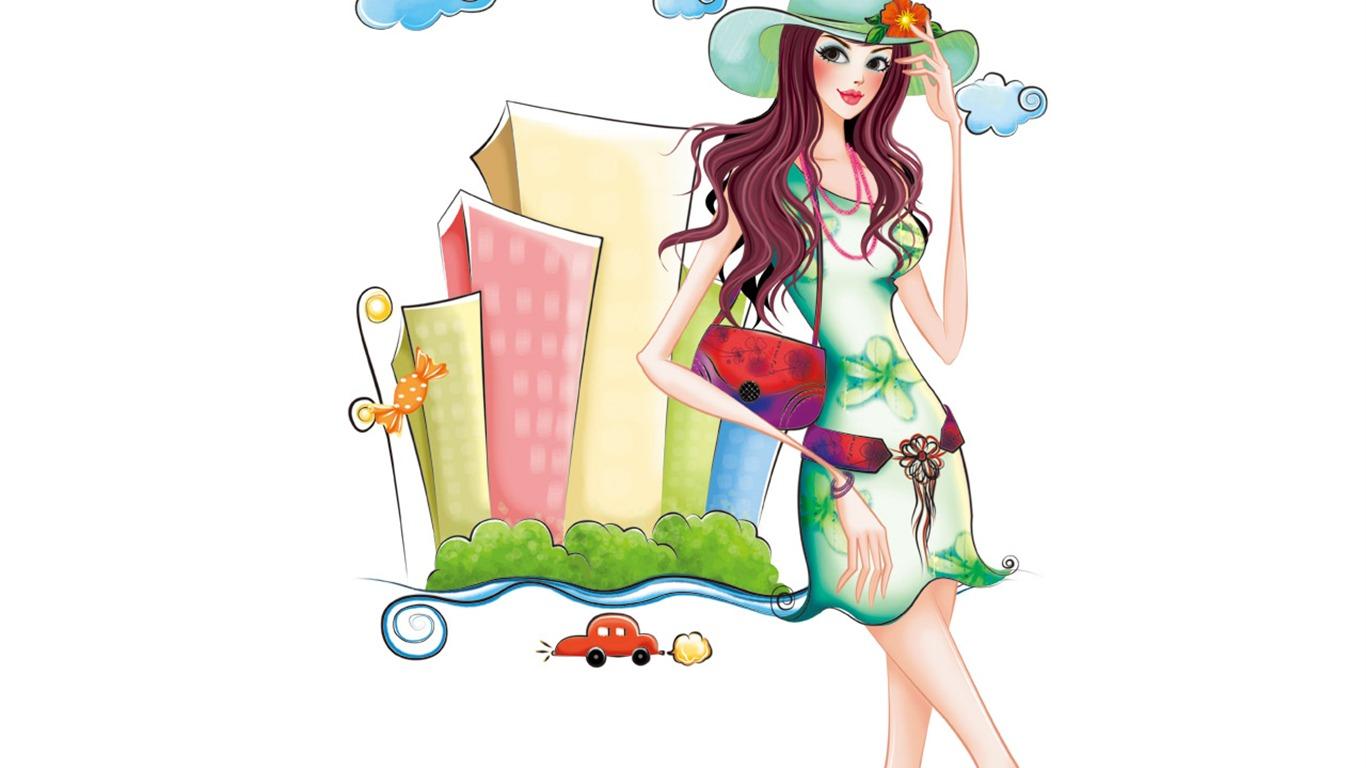 Fashion girl clip art 1
