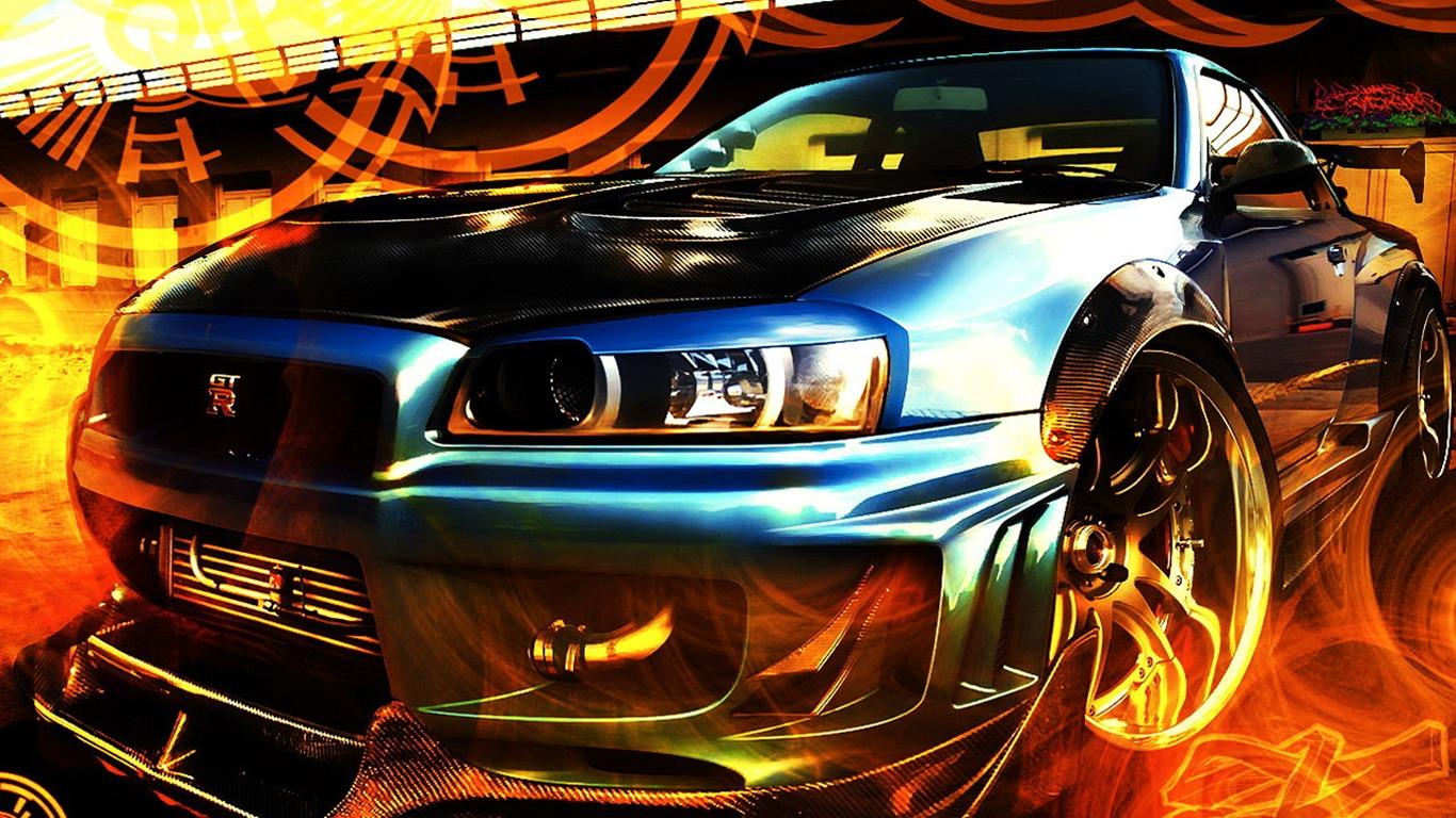 Fast Sports Car Design Wallpaper #7   1366x768.