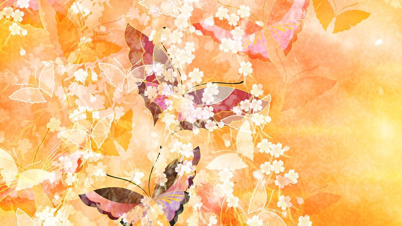 蝶々の和風画像
