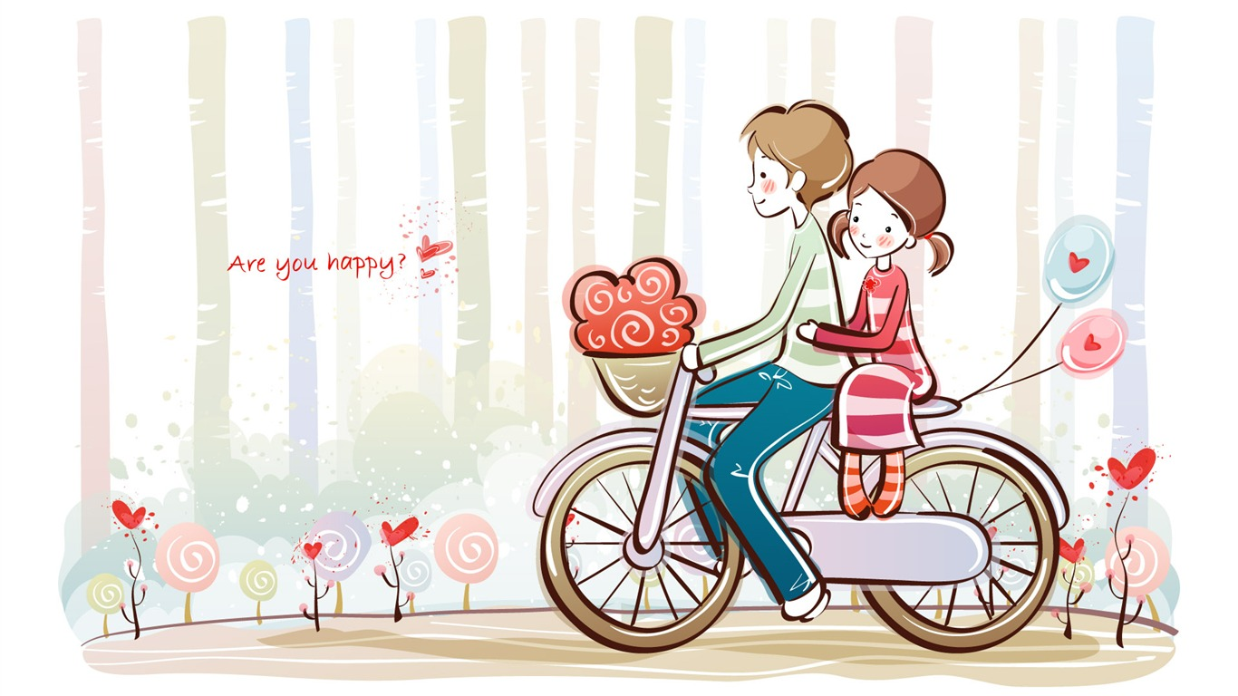 Cartoon valentine 39 s day wallpapers 2 12 1366x768 - Cartoon valentine wallpaper ...