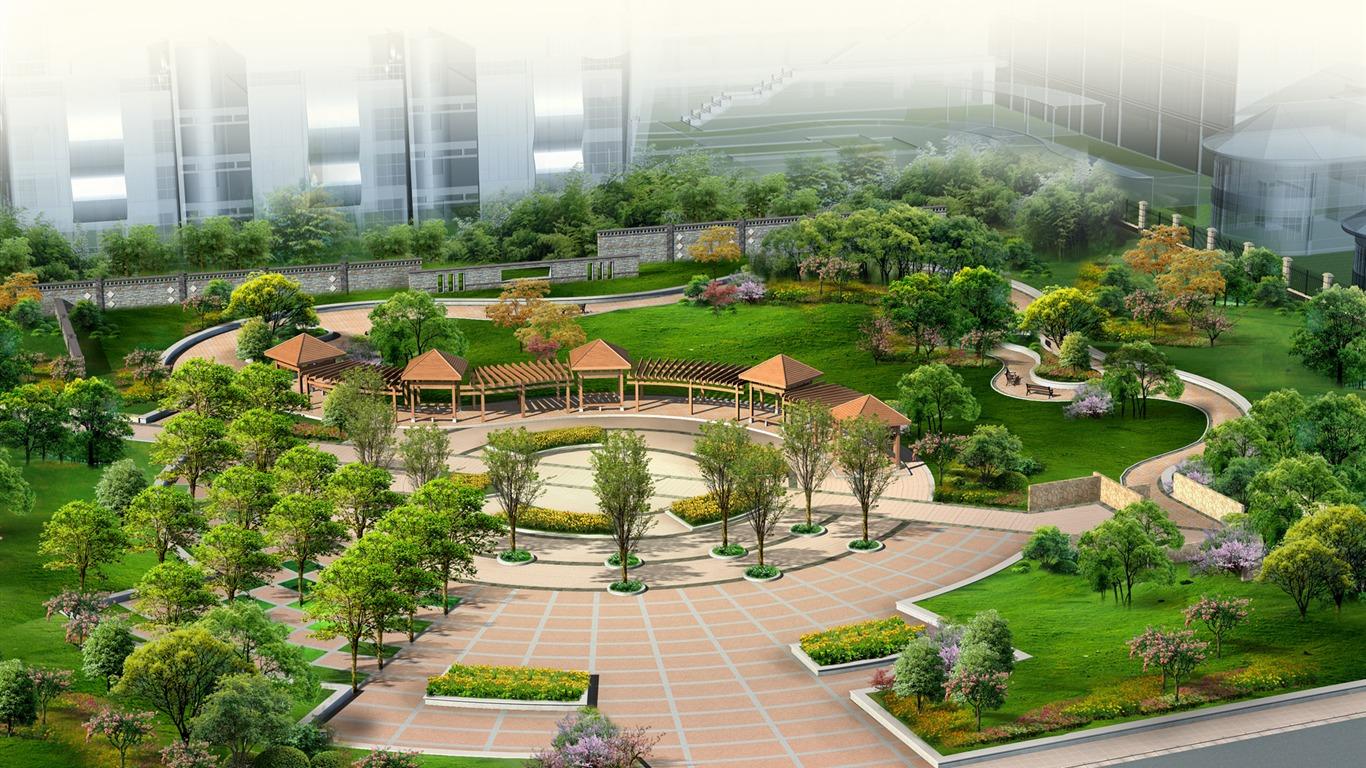 effets de l 39 architecture et le jardin d 39 cran hd 2 5
