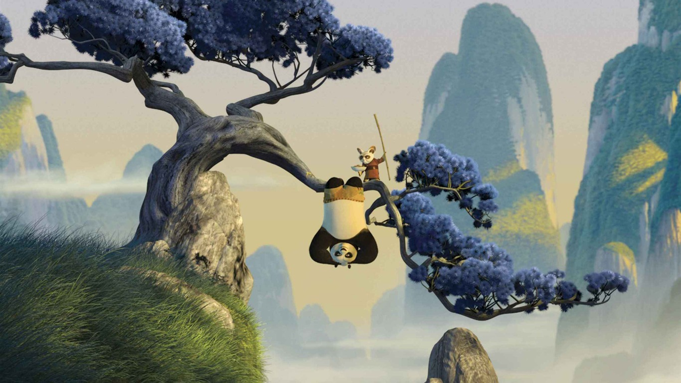 Kung fu panda hd wallpaper 15 1366x768 fond d 39 cran - Kung fu panda 3 telecharger ...