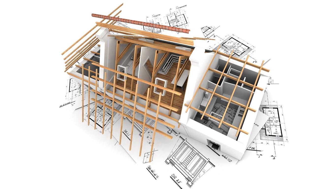 3D Architectural Design Wallpaper (1) #11   1366x768.