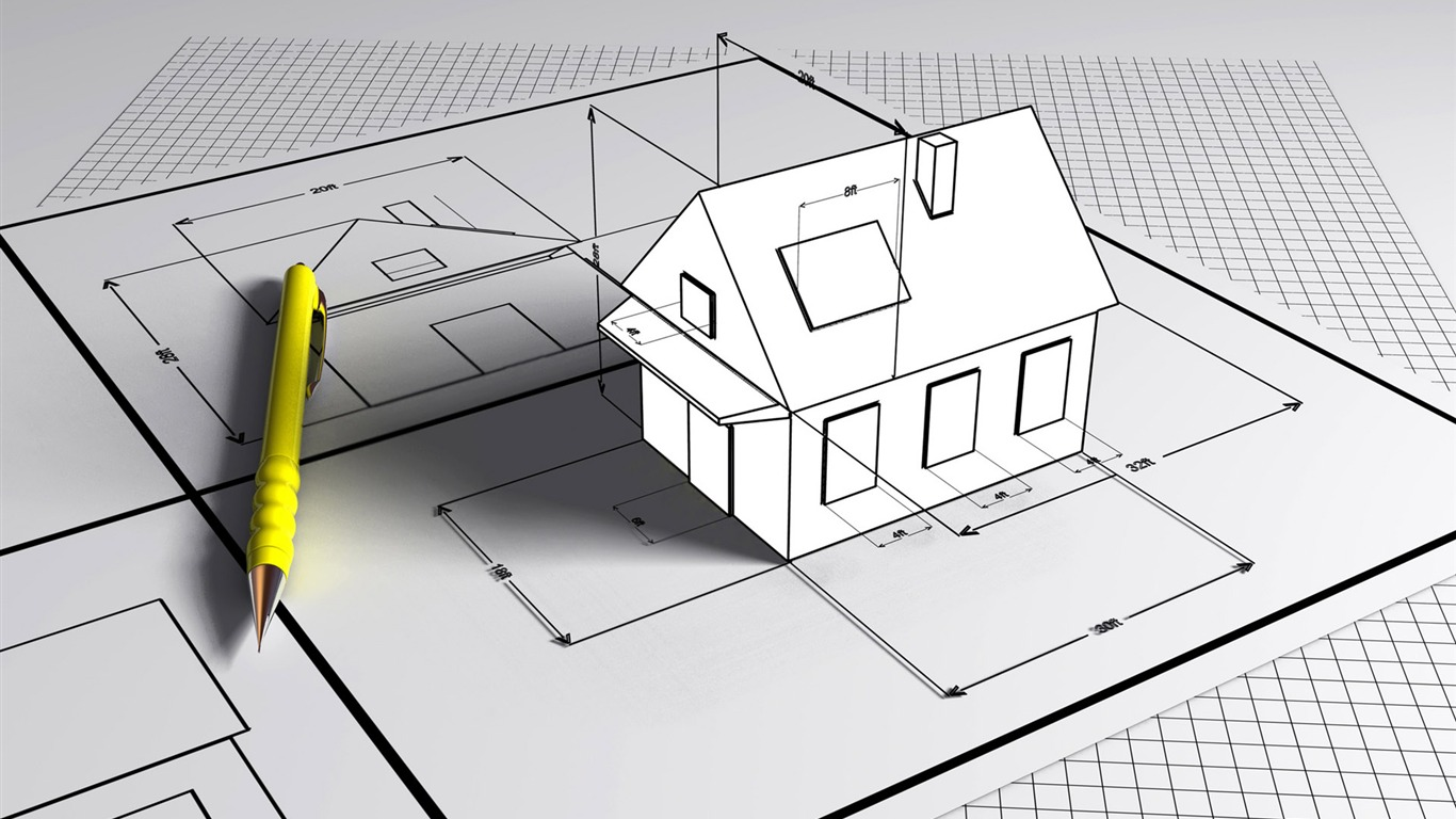 3d Architectural Design Wallpaper 2 13 1366x768