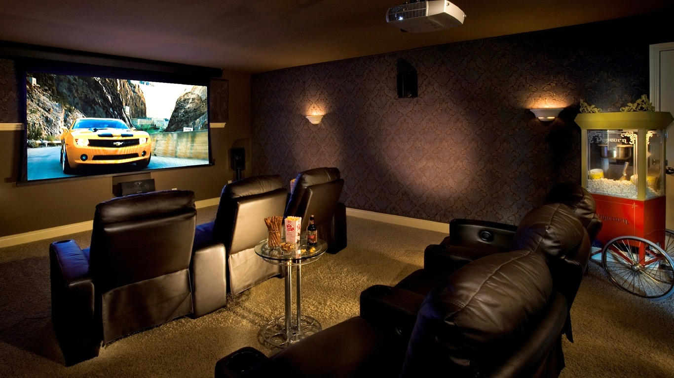 Home theater wallpaper 1 8 1366x768 download picture to for Wallpaper home theater