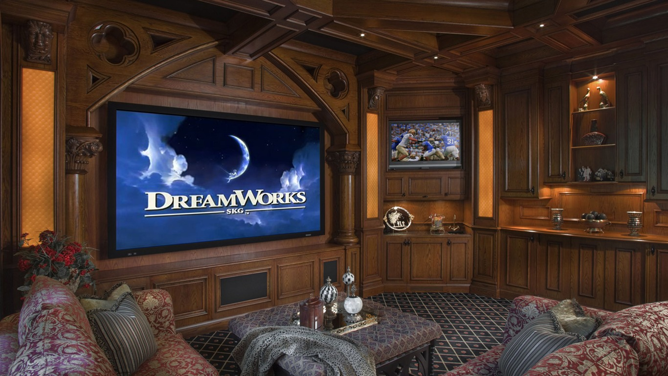 Home theater wallpaper 1 19 1366x768 wallpaper for Home wallpaper videos