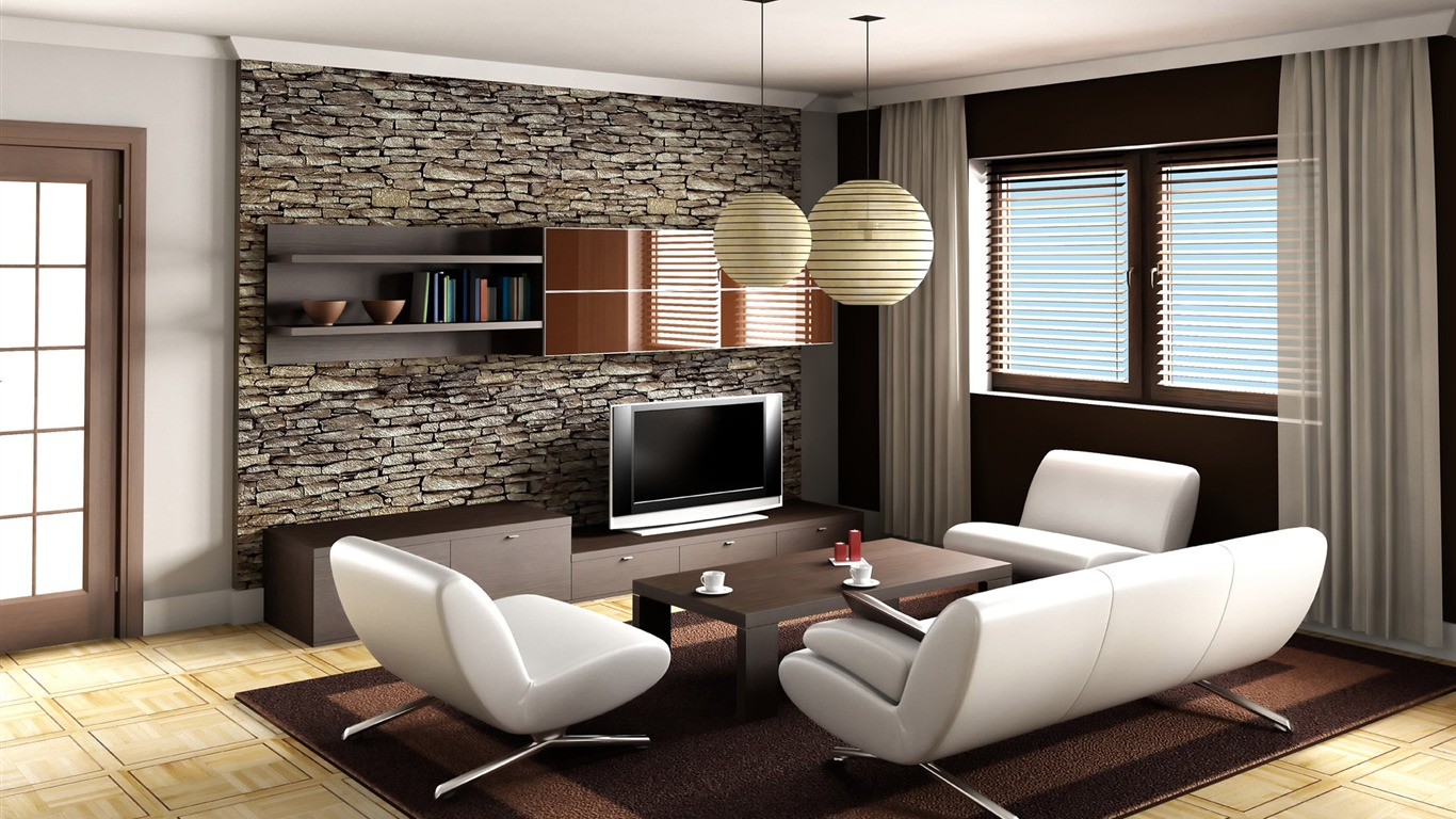 Living Room Photo Wallpaper  7   20   1366x768. Wallpapers Living Room   Home Design