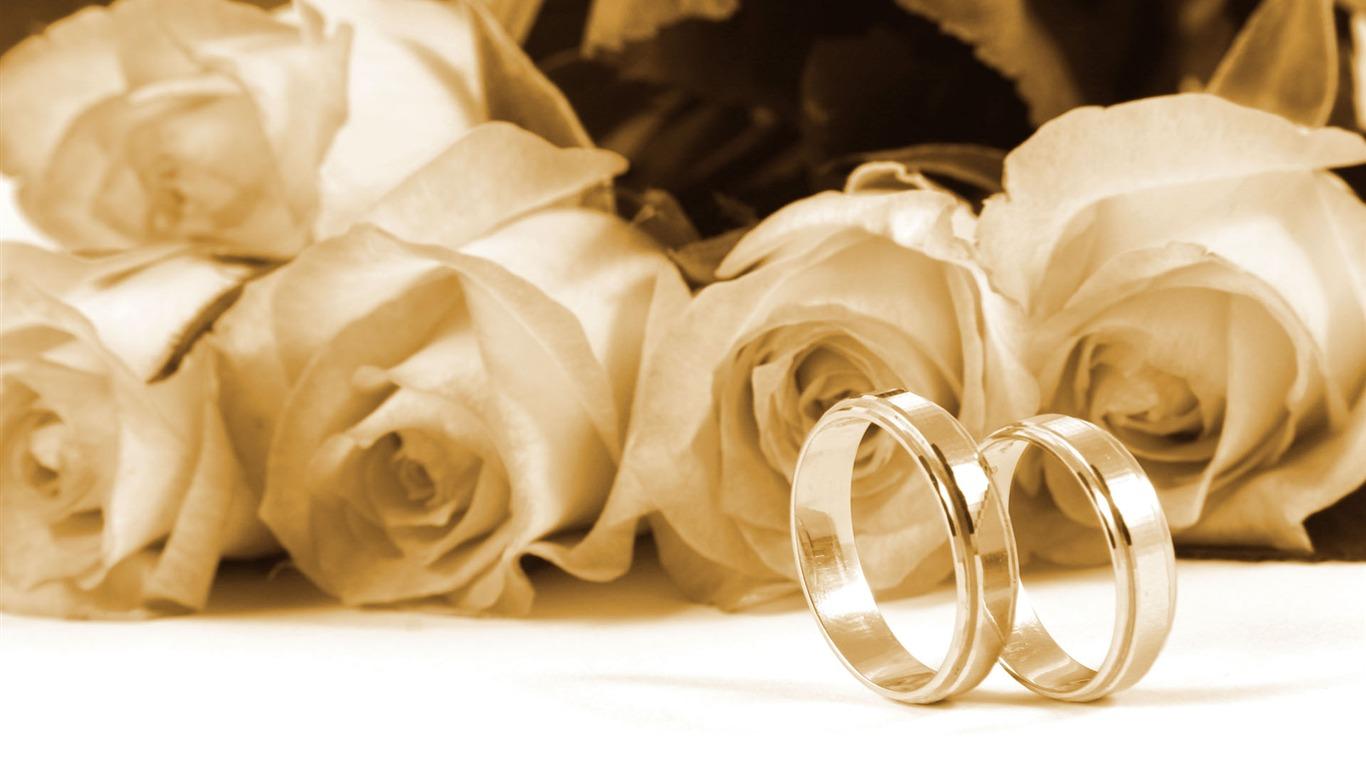 Mariage et papier peint anneau de mariage (2) #9 - 1366x768 Fond d ...