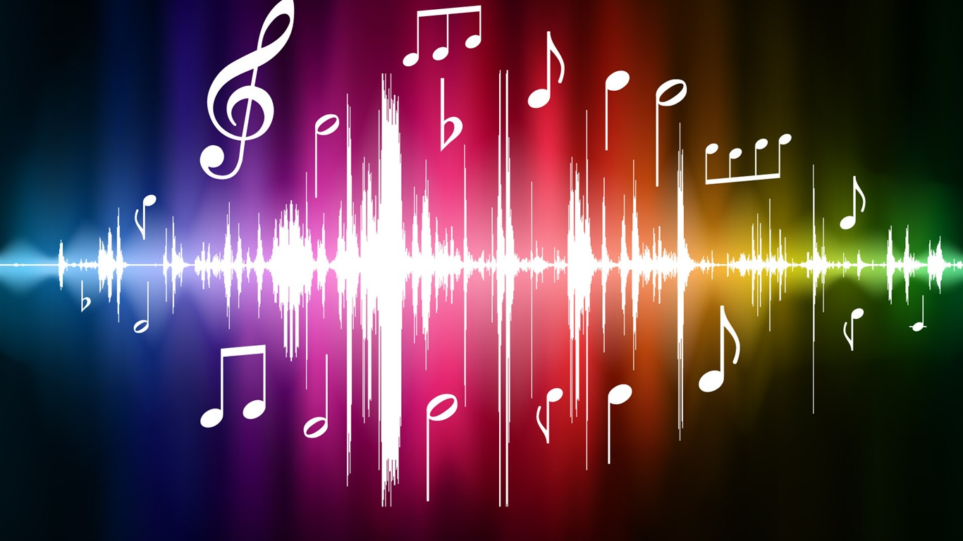 Fonds d 39 cran vector th me musical 4 4 1366x768 fond for Theme ecran