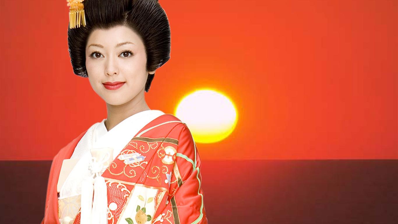 japonesas nozze fondos 18 1366x768 descripción as niñas japonesas ...