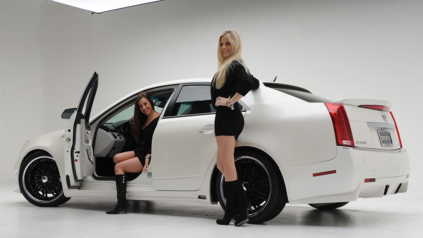 Автомобили и девушки обои 4 4 1366x768