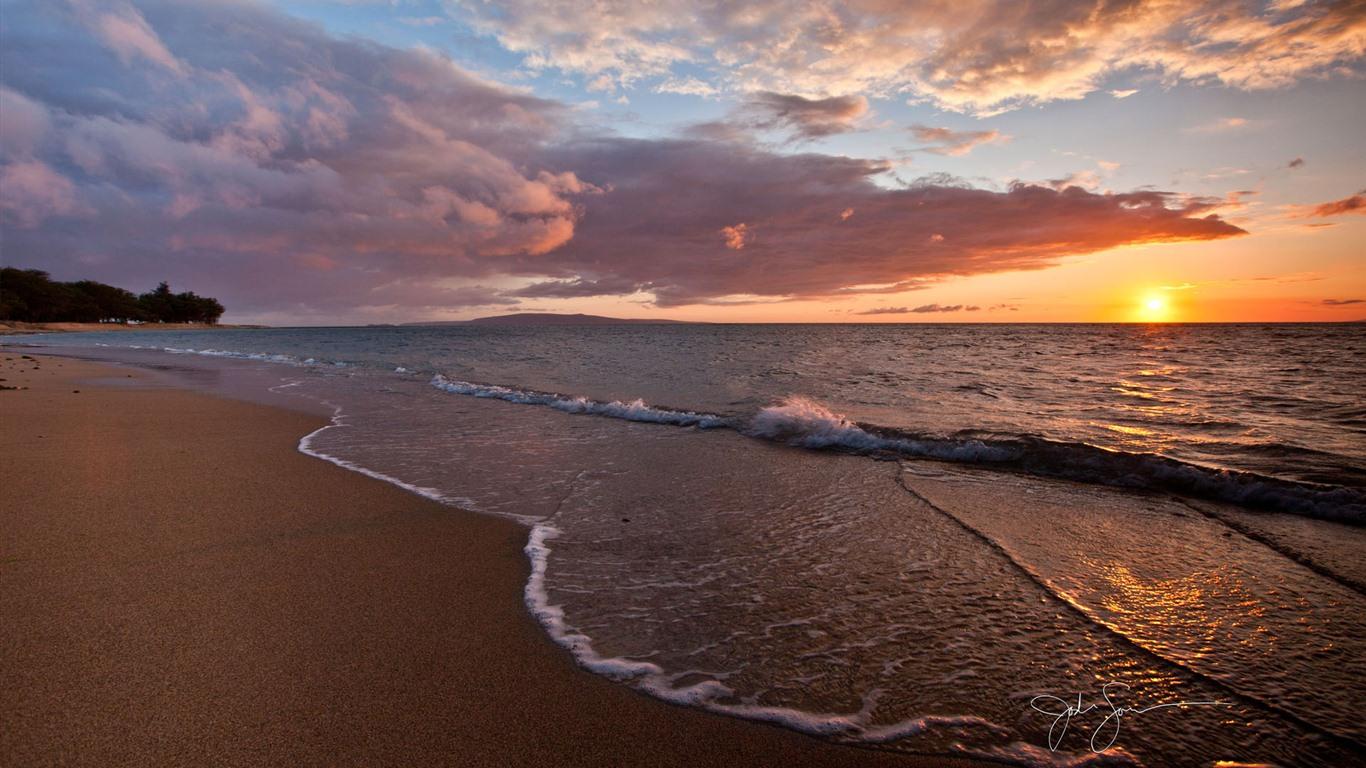 sunrise beach sand wallpaper - photo #12