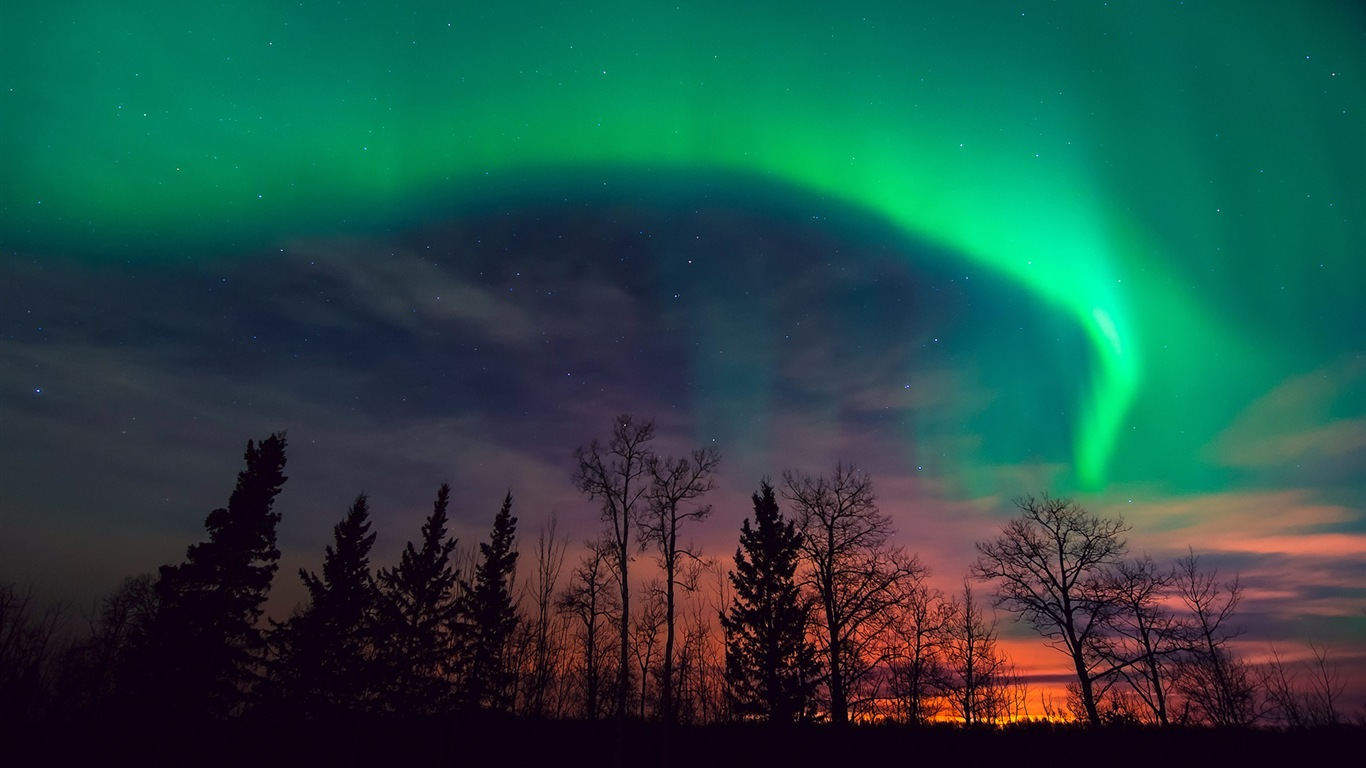 Natural wonders of the Northern Lights HD Wallpaper (1) #19