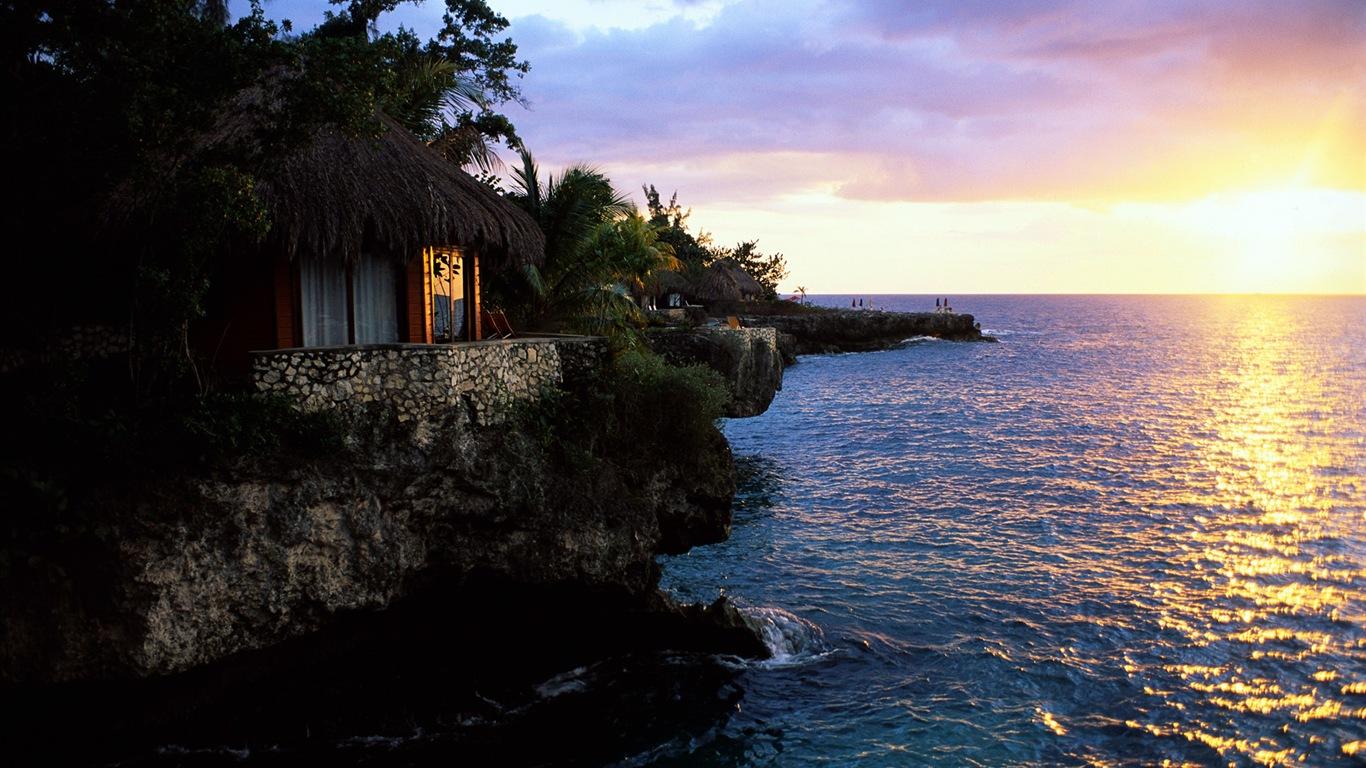 Windows 8 wallpapers caribbean shores 8 1366x768 - Caribbean wallpaper free ...