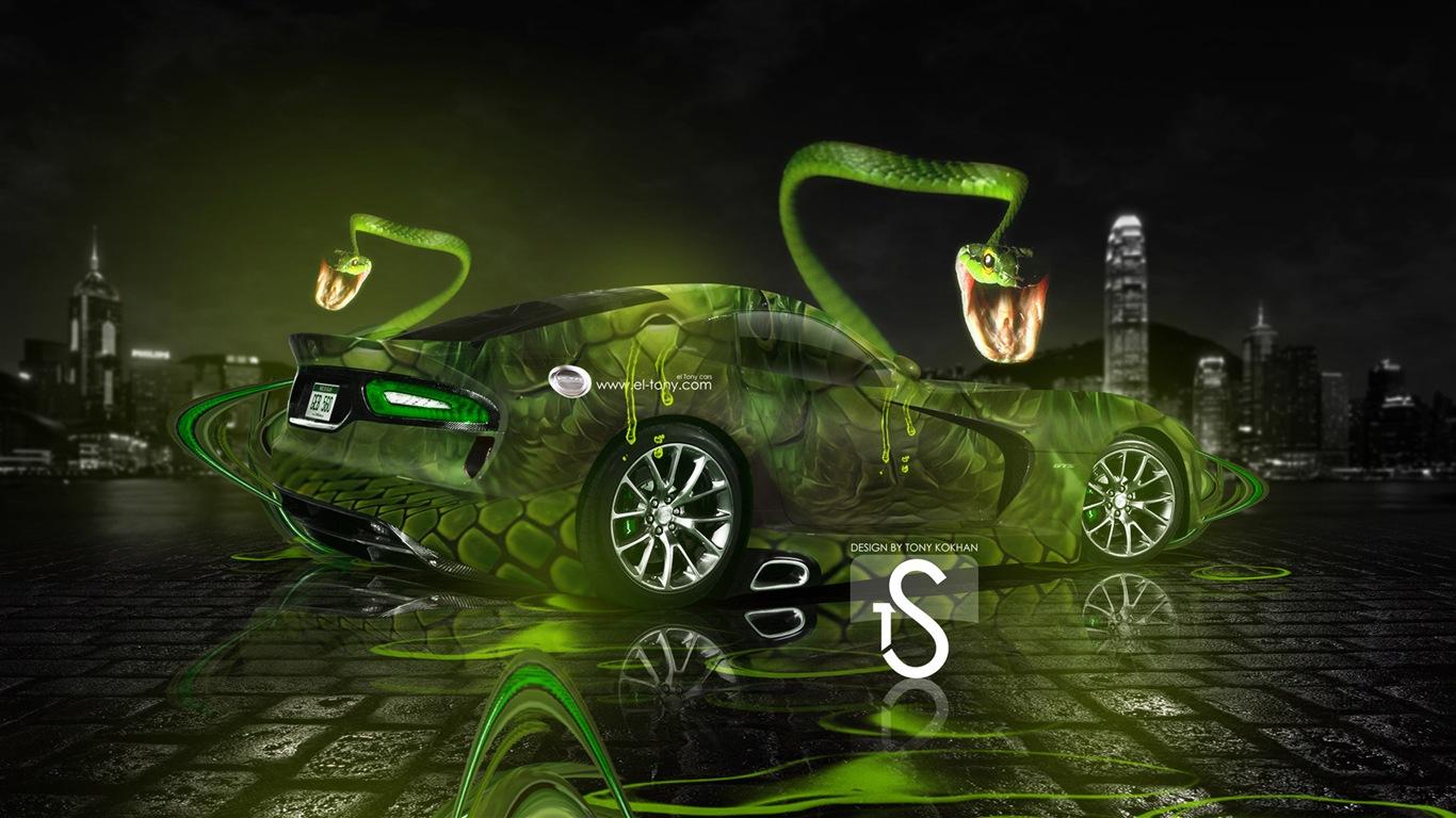 梦幻创意汽车设计壁纸,动物汽车 #15 - 1366x768