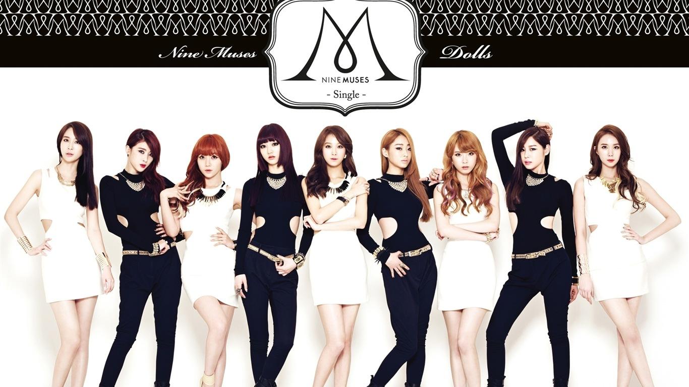 nine muses 韩国女子音乐组合 高清壁纸15 - 1366x768图片