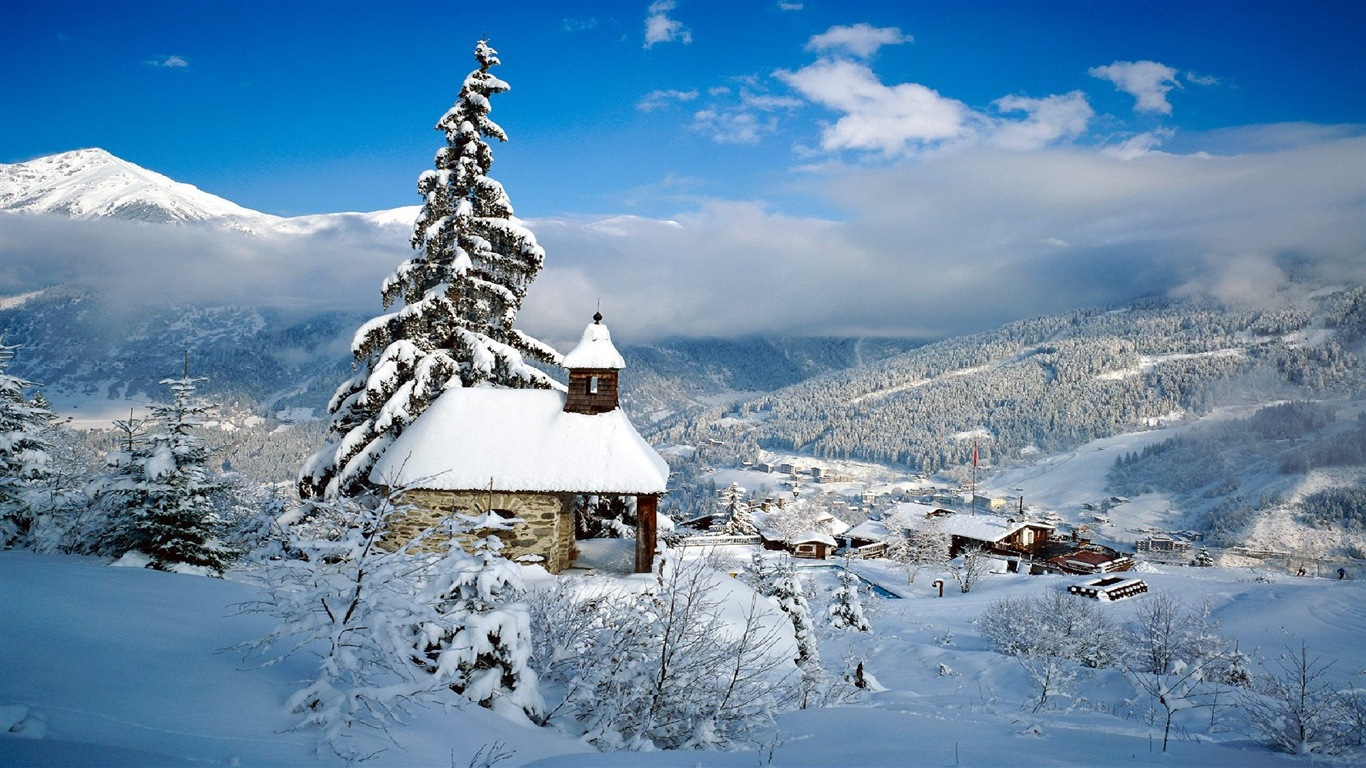 neige d 39 hiver fonds d 39 cran hd magnifique de paysages 20 1366x768 fond d 39 cran t l charger. Black Bedroom Furniture Sets. Home Design Ideas