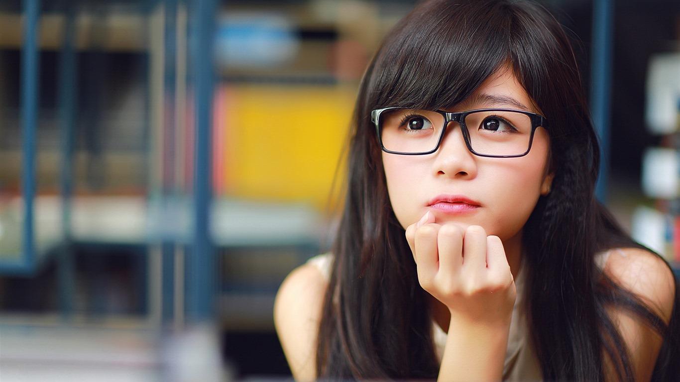 清纯可爱年轻的亚洲女孩 高清壁纸合集(一)6 - 1366x768