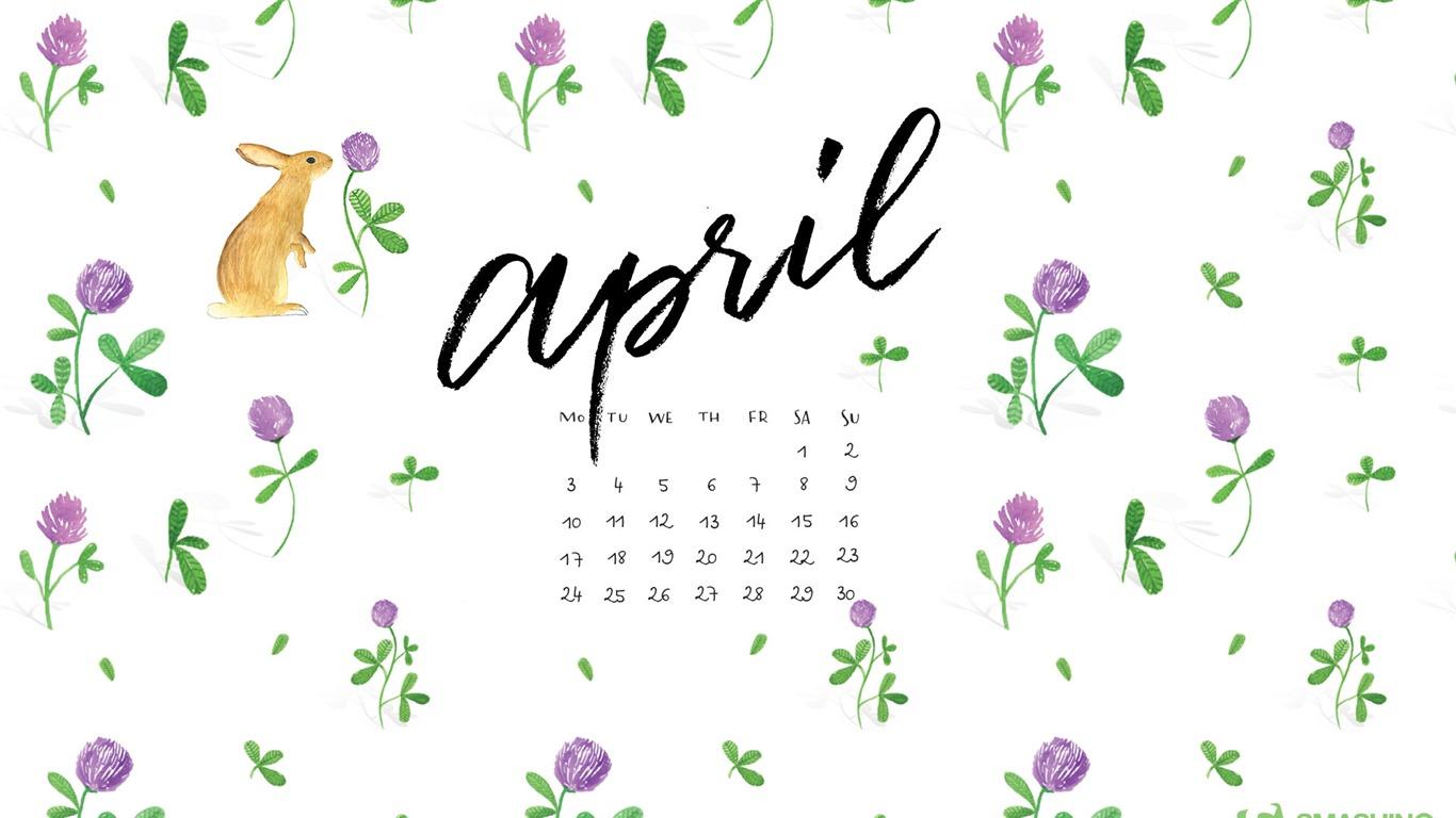 April 2017 Calendar Wallpaper 1 14 1366x768 Wallpaper