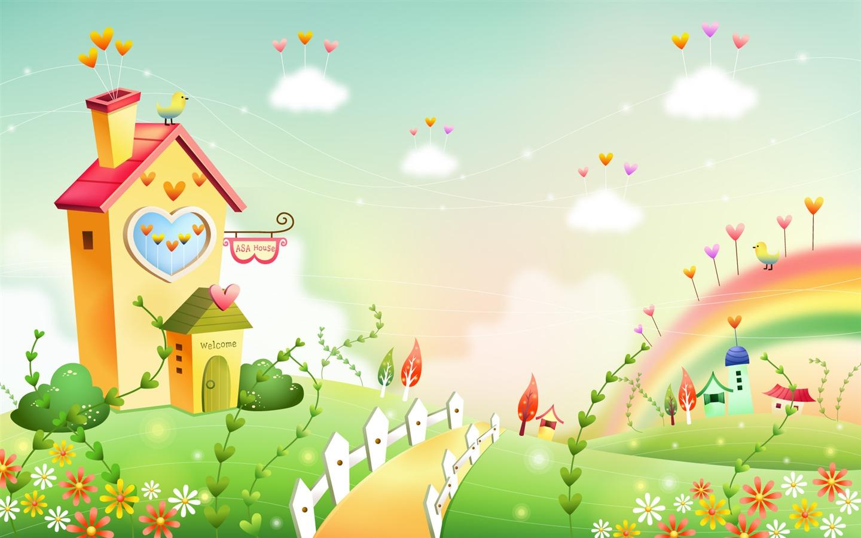 Fondos de pantalla de dibujos animados fantas a paisajes for Imagenes de animacion