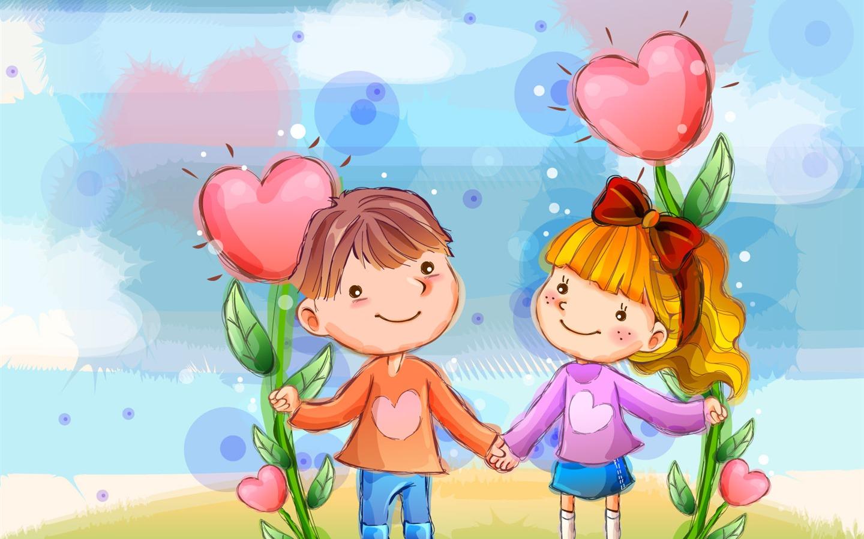 Descripción : Wallpaper feliz vectorial de los niños (1) #19
