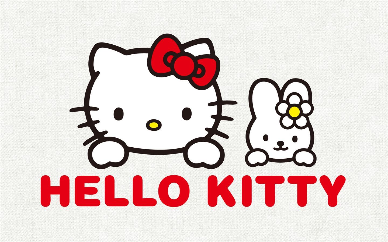 キティとキャシーのイラスト ... : カレンダー フリー 2015 : カレンダー