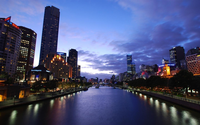 澳大利亚 墨尔本 城市风景 高清壁纸2 - 1440x900