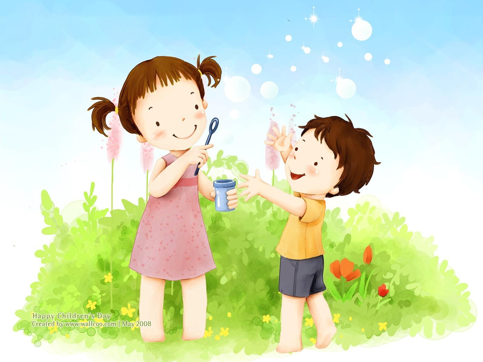 Bonito ilustrador del Día del Niño fondo de pantalla  21 - 1600x1200 ... 4a49b7241cd