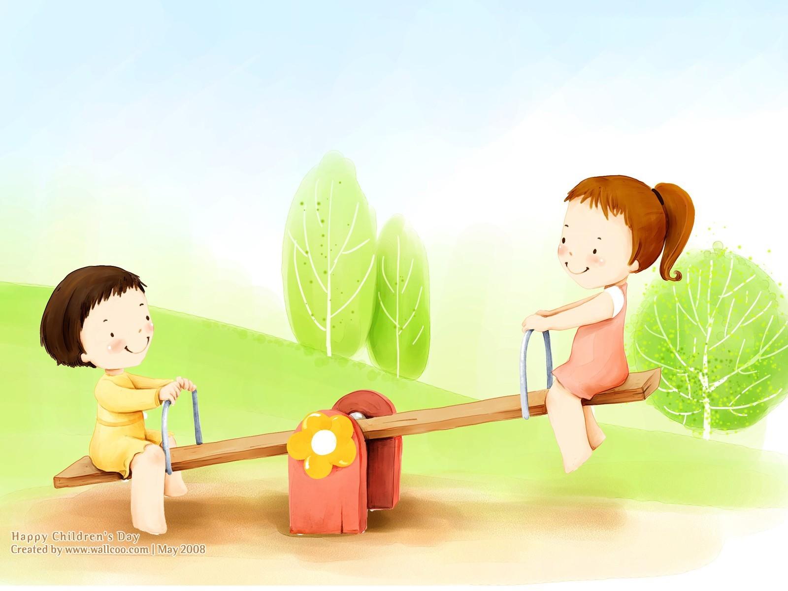 Bonito ilustrador del Día del Niño fondo de pantalla  22 - 1600x1200 ... 594fbabbd91