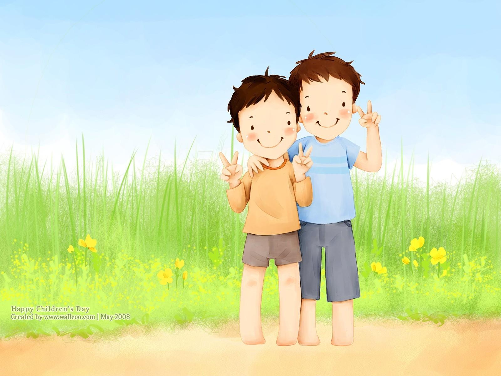 Bonito ilustrador del Día del Niño fondo de pantalla  29 - 1600x1200 ... 60aad02336f